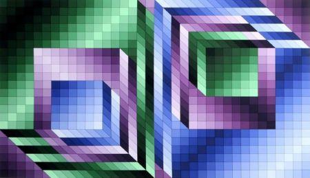 Многоэкземплярное Произведение Vasarely - Xonau
