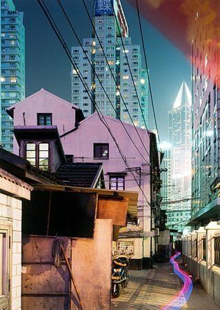 Сериграфия Zielske - Yan 'an Donglu, Shanghai