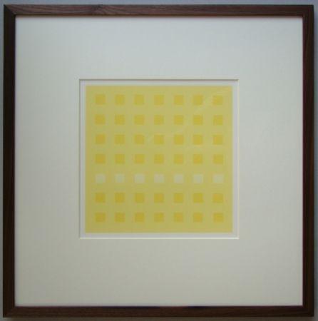 Сериграфия Calderara - Yellow Squares
