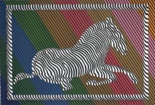 Литография Vasarely - Zèbre n°3
