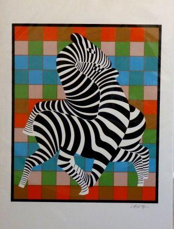 Сериграфия Vasarely - Zebres