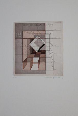 Офорт И Аквитанта Heintschel - Zeit der Quadrate