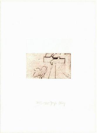 Гравюра Сухой Иглой Beuys - Zirkulationszeit: Kreuz für Saturn